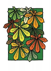 Ed Schimmel - Pop Artist in Australia - Chestnut leaves