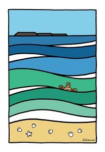 Ed Schimmel - Pop Artist in Australia - Cylinder Beach – Stradbroke Island
