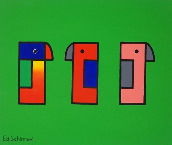 Ed Schimmel - Pop Artist in Australia - Parrots