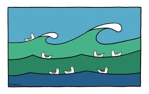 Ed Schimmel - Pop Artist in Australia - Riding the waves